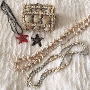 Jewelry - Seashell & starfish necklaces & shell box